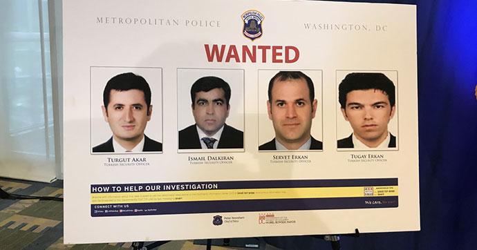 ABD'de, Erdoğan'ın 12 korumasına yakalama kararı