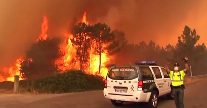 Portekiz'de yangın faciası!.. Çok sayıda ölü var!