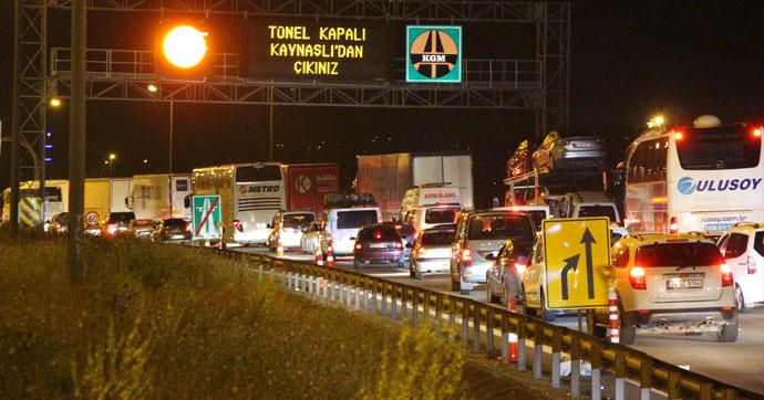 Bolu Dağı'nda trafik çilesi!