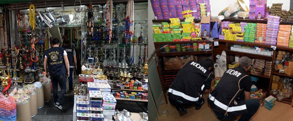 Doğubank, Mahmutpaşa ve Mısır Çarşısı'na DEV operasyon