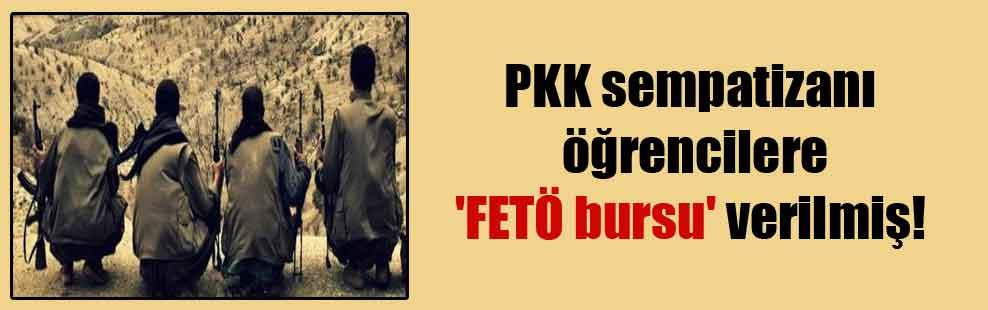 PKK sempatizanı öğrencilere 'FETÖ bursu' verilmiş!