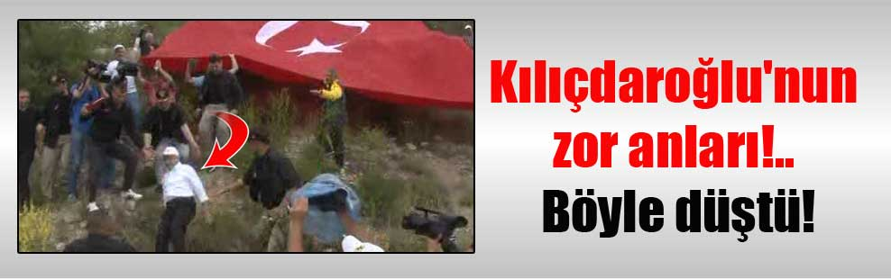 Kılıçdaroğlu'nun zor anları!.. Böyle düştü!