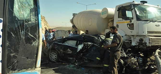 Mardin'de korkunç zincirleme kaza…Ölü ve yaralılar var
