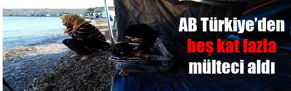 AB Türkiye'den beş kat fazla mülteci aldı