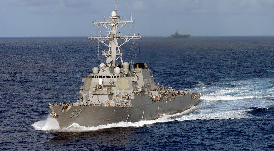 ABD destroyeri, gemi ile çarpıştı: 1 asker yaralı, 7 asker kayıp