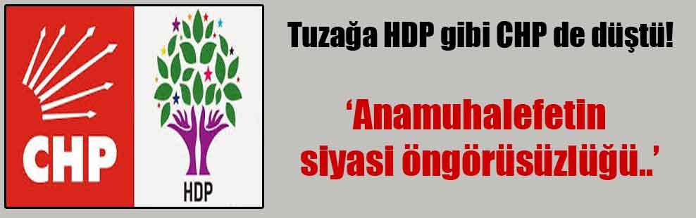 Tuzağa HDP gibi CHP de düştü!