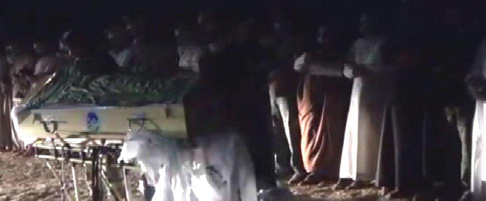 Sakarya'daki vahşetin kurbanları Suriye'de toprağa verildi
