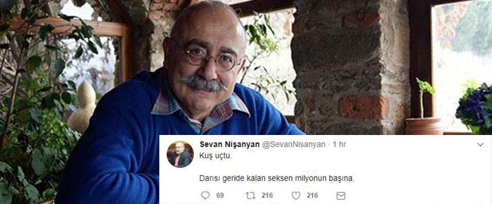Sevan Nişanyan firar etti, Twitter'dan duyurdu