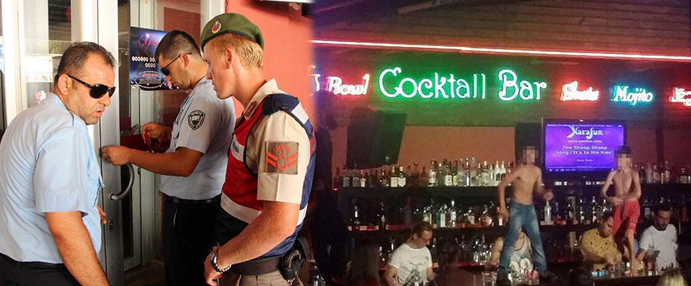 O bar kapatıldı