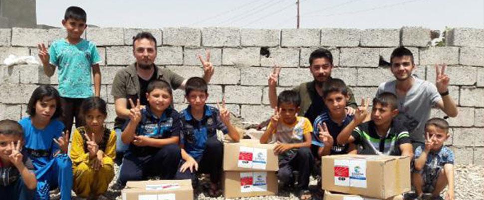CHP'li belediyeden Türkmenlere yardım
