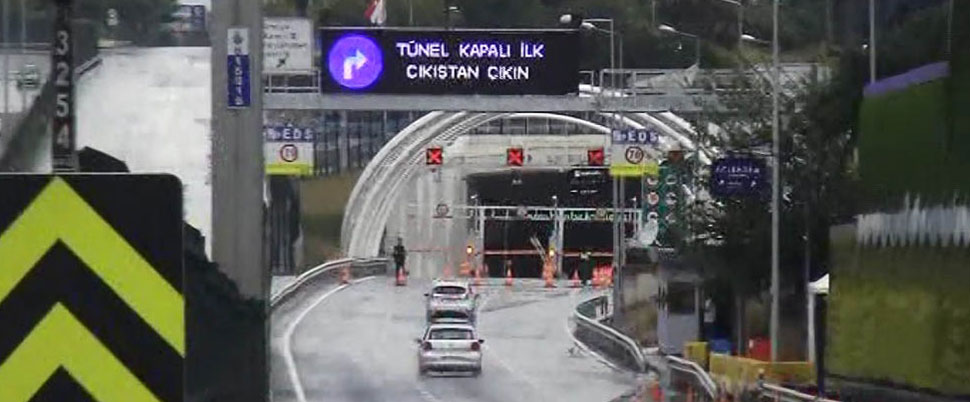 Avrasya Tüneli kapatıldı