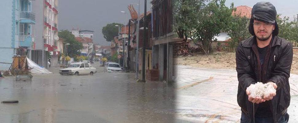 Selendi'yi yağmur vurdu
