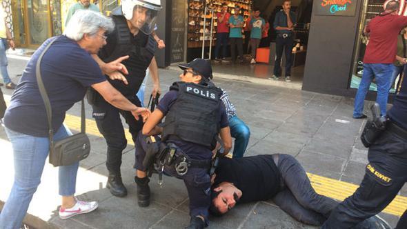 Özakça ve Gülmen protestosuna polis müdahalesi