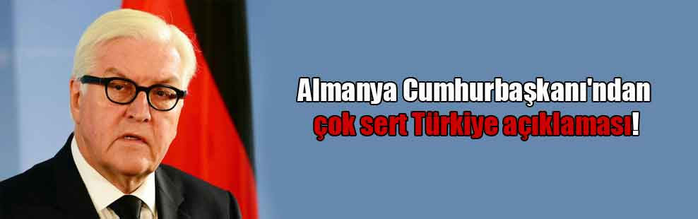 Almanya Cumhurbaşkanı'ndan çok sert Türkiye açıklaması!