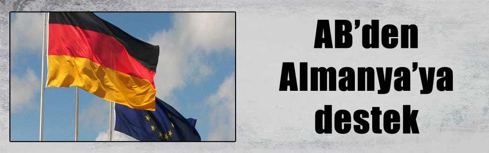 AB'den Almanya'ya destek