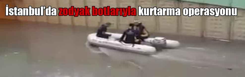 İstanbul'da zodyak botlarıyla kurtarma operasyonu
