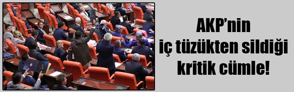AKP'nin iç tüzükten sildiği kritik cümle!