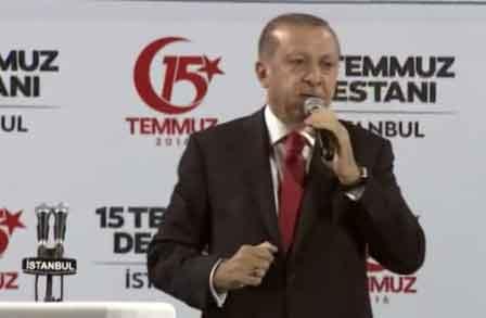 Cumhurbaşkanı Erdoğan: 15 Temmuz'u unutmayacağız, unutturmayacağız