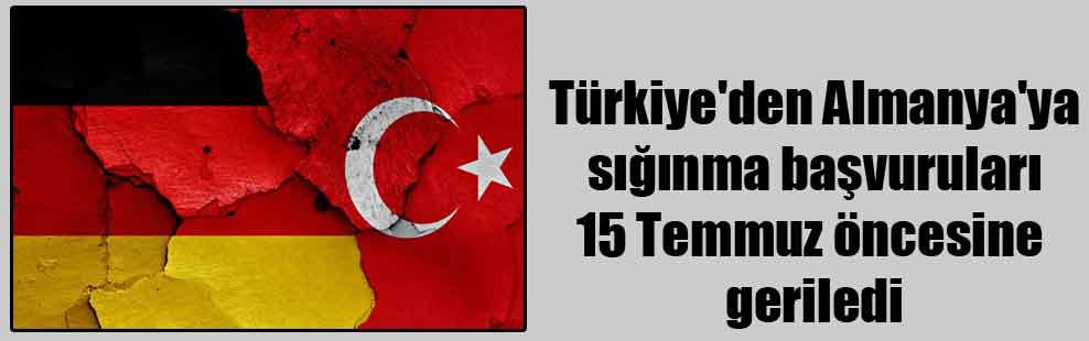 Türkiye'den Almanya'ya sığınma başvuruları 15 Temmuz öncesine geriledi