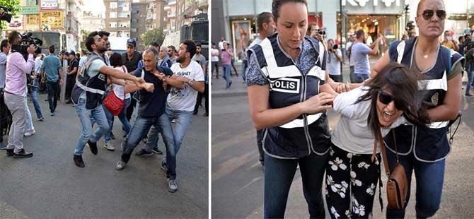 KESK protestosuna polis müdahalesi: 32 gözaltı