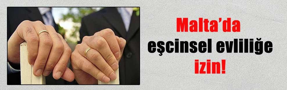 Malta'da eşcinsel evliliğe izin!