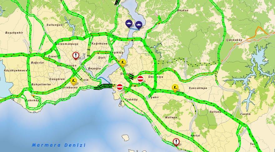İstanbul'da bazı yollar 'adalet için 'kapatıldı…