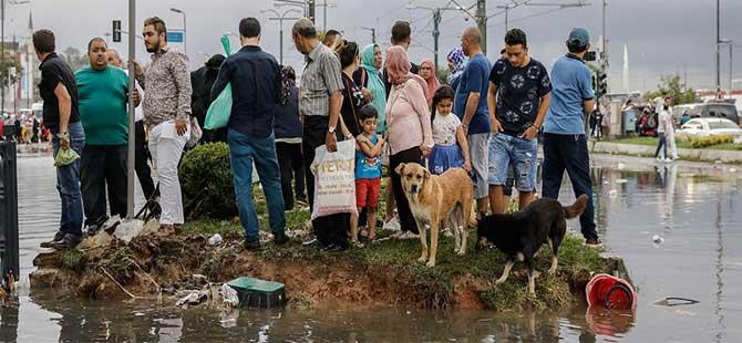 İstanbul'da kuvvetli yağış ve fırtına