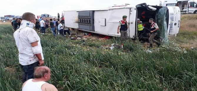 Amasya'da otobüs kazası: Ölü ve yaralılar var