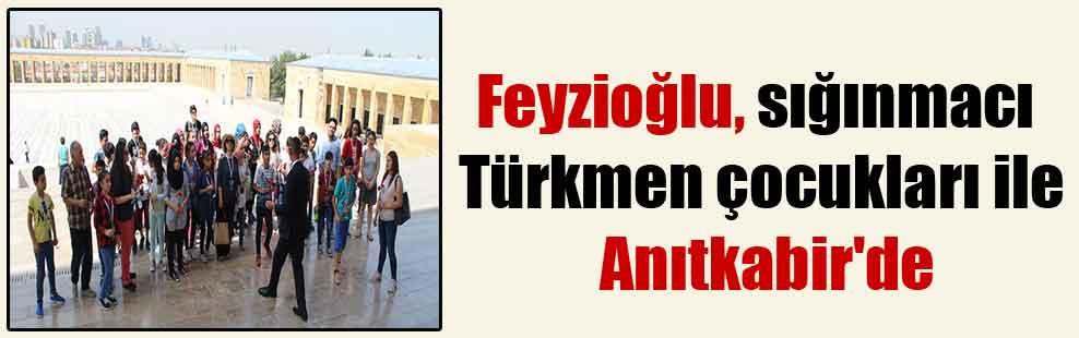 Feyzioğlu, sığınmacı Türkmen çocukları ile Anıtkabir'de