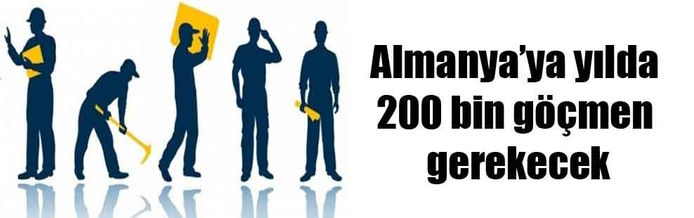 Almanya'ya yılda 200 bin göçmen gerekecek