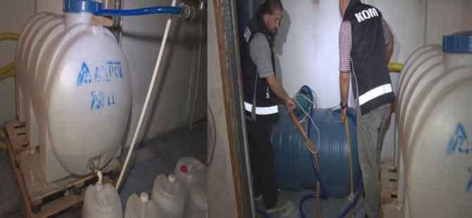 1 ton kaçak içki ham maddesi ele geçirildi