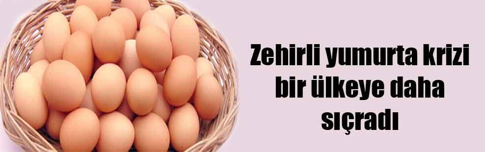 Zehirli yumurta krizi bir ülkeye daha sıçradı