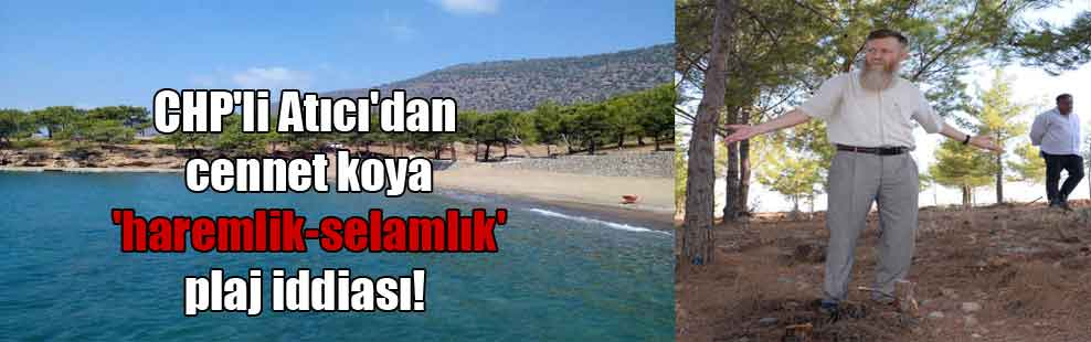 CHPli Atıcının iddiası: Dünyaca ünlü koya haremlik-selamlık plajlar yapılacak 43