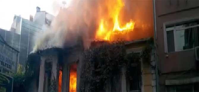 Şişli'de panik yaratan yangın
