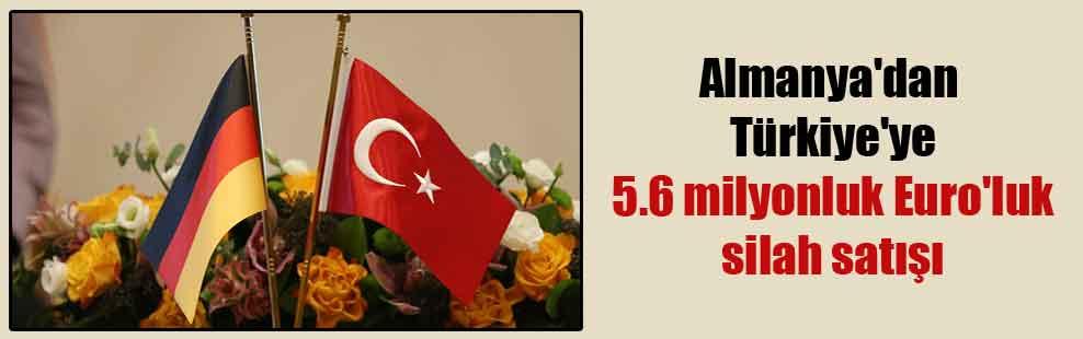 Almanya'dan Türkiye'ye 5.6 milyonluk euro'luk silah satışı