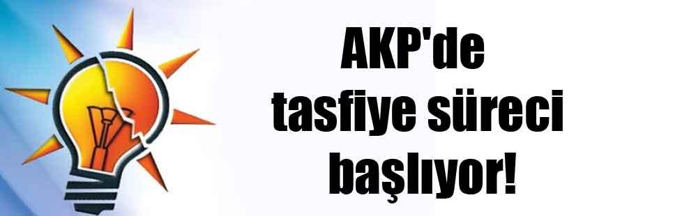 AKP'de tasfiye süreci başlıyor!