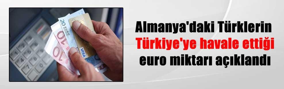 Almanya'daki Türklerin Türkiye'ye havale ettiği euro miktarı açıklandı