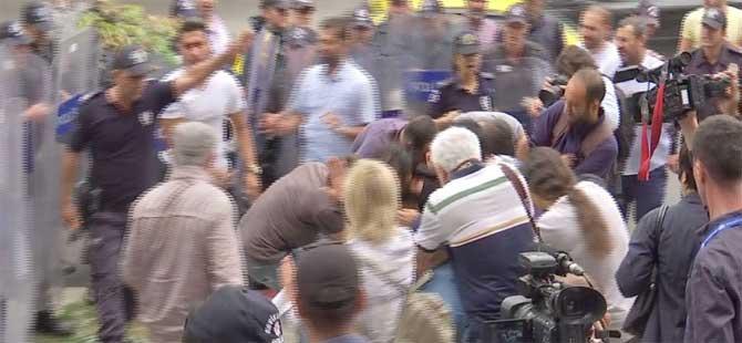 ABD Büyükelçiliği önünde polis müdahalesi