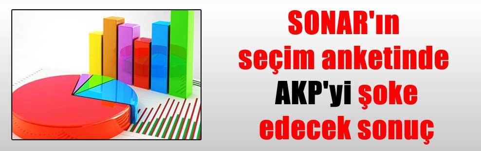 SONAR'ın seçim anketinde AKP'yi şoke edecek sonuç