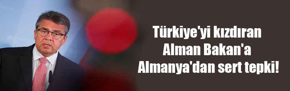 Türkiye'yi kızdıran Alman Bakan'a Almanya'dan sert tepki!