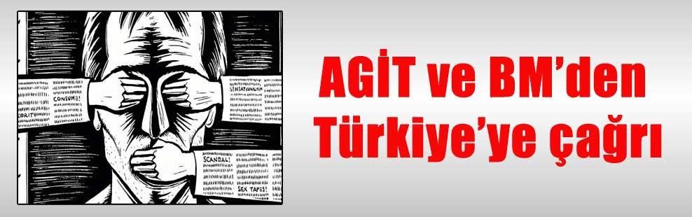 AGİT ve BM'den Türkiye'ye çağrı