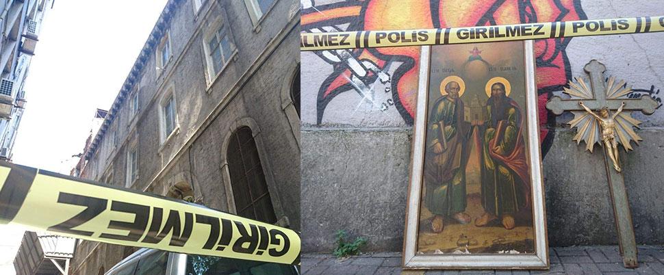 Beyoğlu'nda kiliseye hırsız girdi
