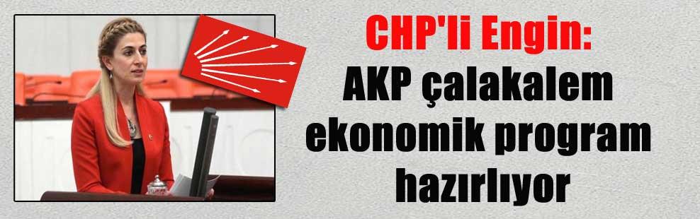 CHP'li Engin: AKP çalakalem ekonomik program hazırlıyor