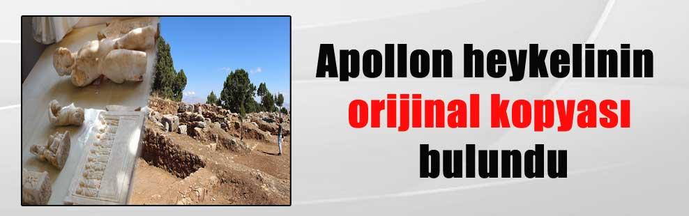 Apollon heykelinin orijinal kopyası bulundu