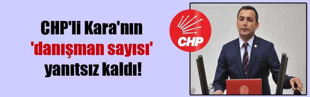 CHP'li Kara'nın 'danışman sayısı' yanıtsız kaldı!