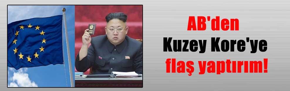 AB'den Kuzey Kore'ye flaş yaptırım!