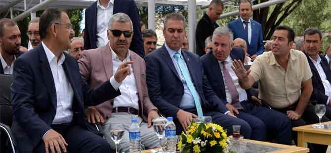 Bakan Özhaseki'nin de katıldığı şenlikte gerginlik
