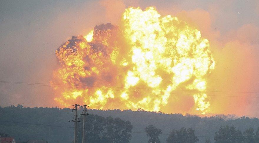 Ukrayna'da patlama: Binlerce insan tahliye edildi