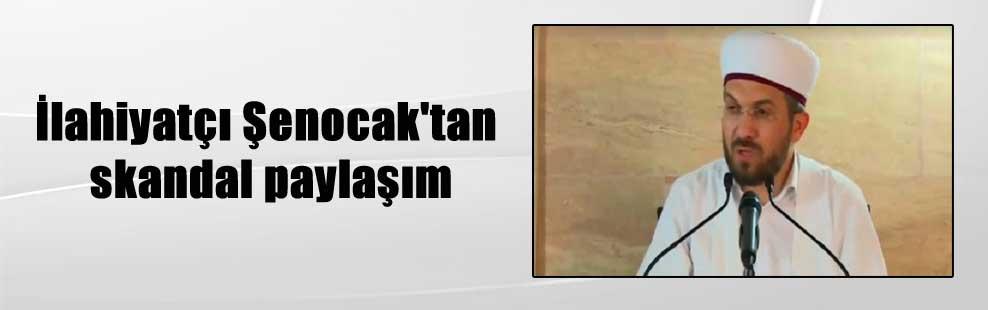 İlahiyatçı Şenocak'tan skandal paylaşım