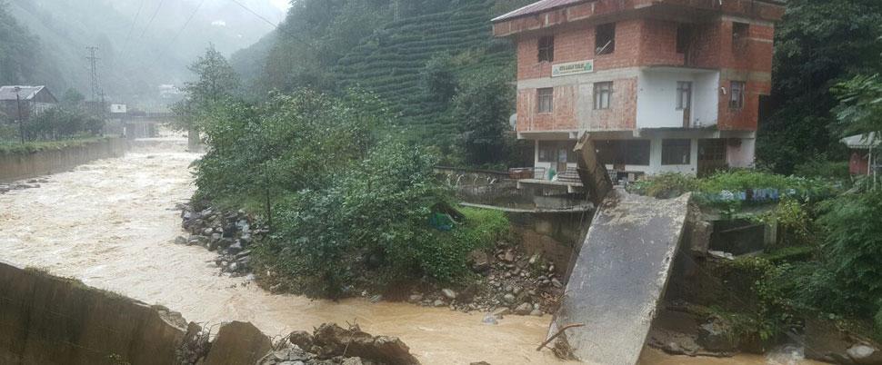 O ilde şiddetli yağış; 20 ev boşaltıldı